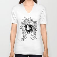 hawk V-neck T-shirts featuring Hawk  by Art is Vast