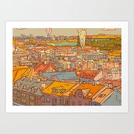 Budapest digital 1. Art Print