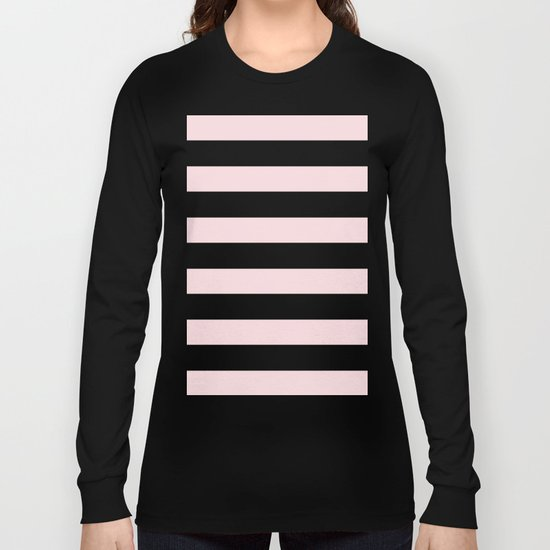 Simply Stripes in Pink Flamingo Long Sleeve T-shirt