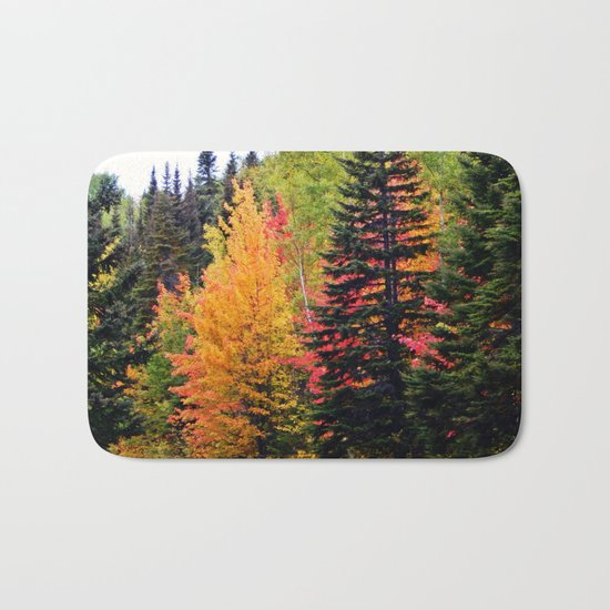 Deep in the Forest (Fall Colors) Bath Mat