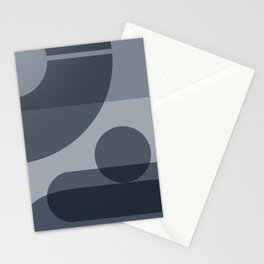 42504-5-p1, Set Light blue & Grey blue, Bauhaus Style Art, Boho decor Stationery Cards