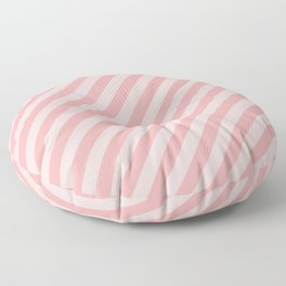 Classic Blush Pink Glossy Candy Cane Stripes Floor Pillow