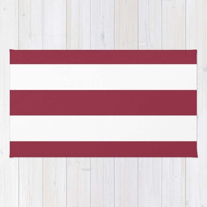 Red Violet Color Wheel Solid Color White Stripes Pattern Rug