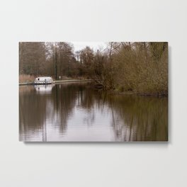 Boating on Norfolk Broads Metal Print