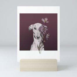 Greyhound Floro Red Mini Art Print