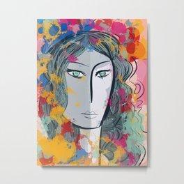 The Amazon Vector Girl Street Art Painting Metal Print