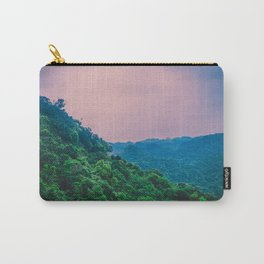 Beautiful Dreamlike Green Woods against Pink Sky. Nature Photography. Carry-All Pouch