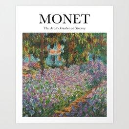 Monet - The Artist's Garden at Giverny Art Print