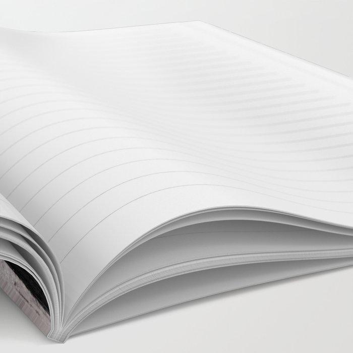 White Grunge American flag Notebook