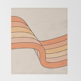 Tangerine Ribbon Throw Blanket
