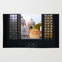 gnome Area & Throw Rugs featuring Laughing Gnome  in Venice by Bruce Stanfield