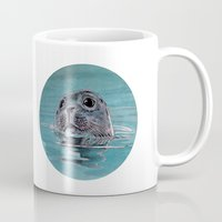 seal Mugs featuring seal by ARTito