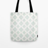 fleur de lis Tote Bags featuring Fleur-de-lis by Juste Pixx Designs