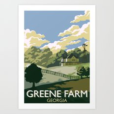 Greene Farm, GA / The Walking Dead Art Print