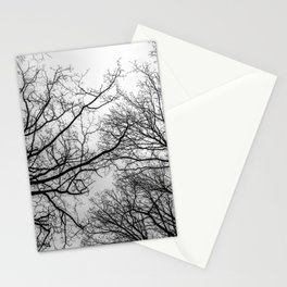 Mysterious trees, black and white Stationery Cards