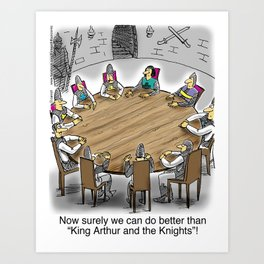 King Arthur and The Knights of the Round Table Art Print