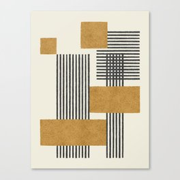 Stripes and Square Composition - Abstract Canvas Print