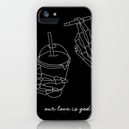 Our Love is God iPhone Case