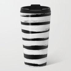 Black and White Stripes II Travel Mug