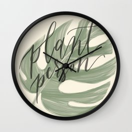 Plant Person Wall Clock