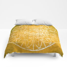 Fire Blossom - Yellow Comforters