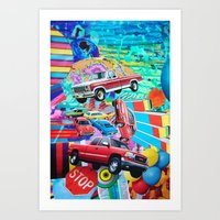 cars Art Prints featuring Cars by John Turck