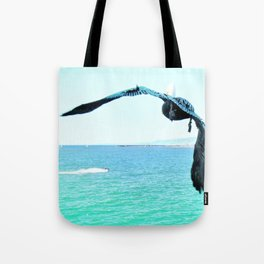 Pelican and Jetski Tote Bag