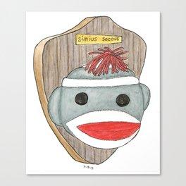 Sock Monkey Trophy Canvas Print