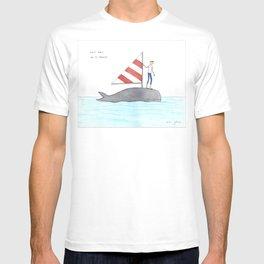 set sail on a whale T-shirt