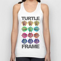 frame Tank Tops featuring Turtle Frame by Galvanise The Dog