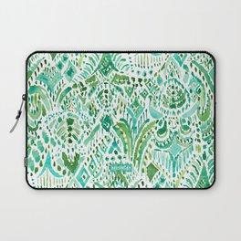 GETTIN' TURT Green Aqua Sea Turtle Tribal Laptop Sleeve