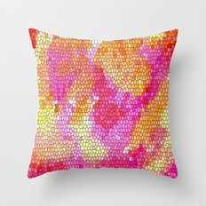 Watercolor Stained Glass Throw Pillow