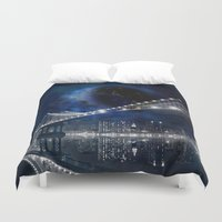 new york city Duvet Covers featuring New!! New York City by Simone Gatterwe