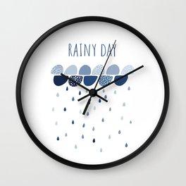 Rainy Day art print Wall Clock