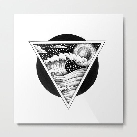 GIANT WAVES Metal Print
