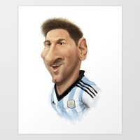 argentina Art Prints featuring Messi - Argentina by Sant Toscanni