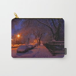Chicago in Snow: White Drapery (Chicago Winter Collection) Carry-All Pouch