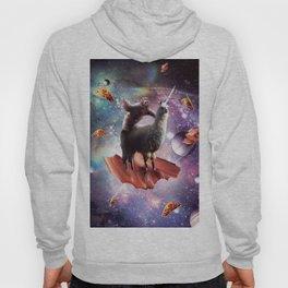 Space Sloth Riding Llama Unicorn - Bacon & Taco Hoody