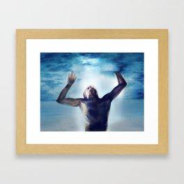 Swimming in the flood Framed Art Print
