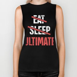 Eat, Sleep, Ultimate Frisbee Biker Tank
