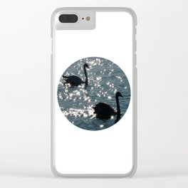 The Sparkle of the Swans Clear iPhone Case