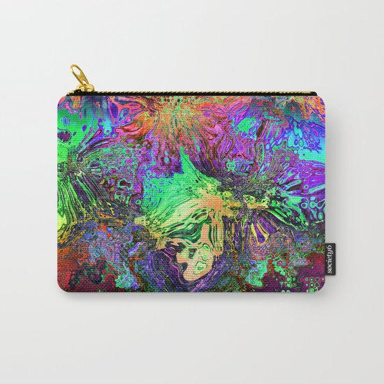 Abstract Chaotic Spectrum Carry-All Pouch