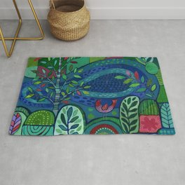 Bird by the Pond Rug