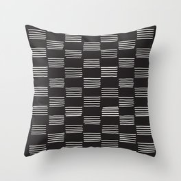 hatches –almost black and white Throw Pillow