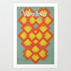 Mitchati Hearts  - Wezteka Union Art Print