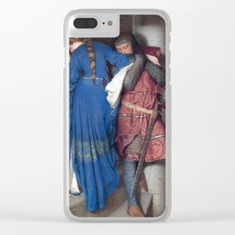 Hellelil and Hildebrand, the meeting on the turret stairs by Frederic William Burton Clear iPhone Case