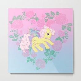 g1 my little pony flutter queen rosedust Metal Print