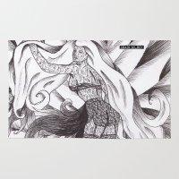 jasmine Area & Throw Rugs featuring Jasmine by DESINK