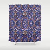 mosaic Shower Curtains featuring Mosaic by PureVintageLove