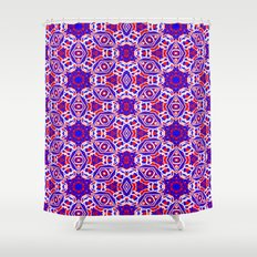 Red, White and Blue Diamonds 242 Shower Curtain